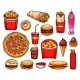 Fast Food Lunch with Sandwich, Drink and Dessert - GraphicRiver Item for Sale