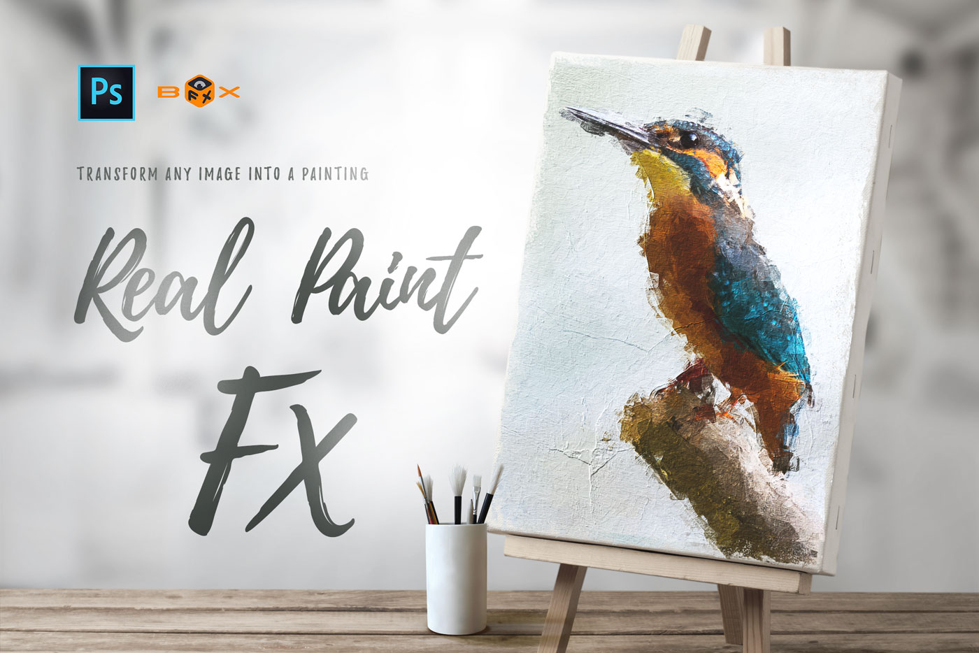 Animated Real Paint FX - Photoshop Add-On