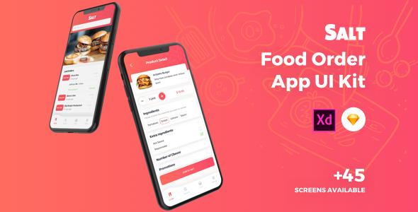 Salt Food Order App Ui Kit By Uicube Themeforest