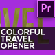 Colorful Travel Opener // Typography Slideshow - VideoHive Item for Sale