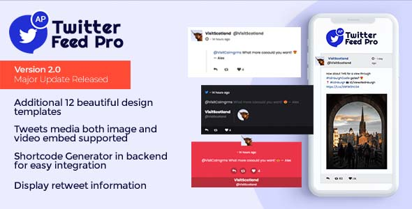 Download AccessPress Twitter Feed Pro – An Ultimate Twitter Feed Plugin to Generate Twitter Feeds nulled code sales banner