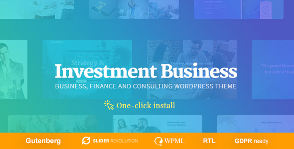 Investment Business - Finance & Investment Consulting WordPress Theme