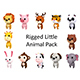 Rigged Little Animal Pack - 3DOcean Item for Sale