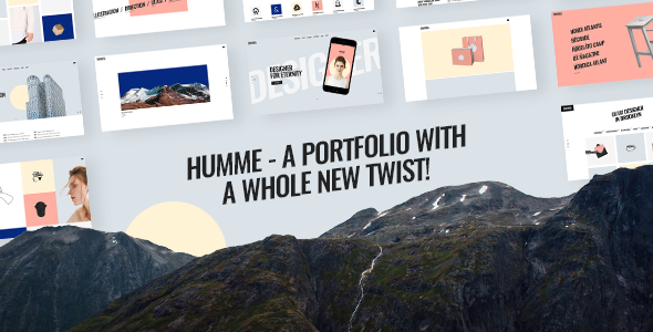 Humme - Design Portfolio Theme