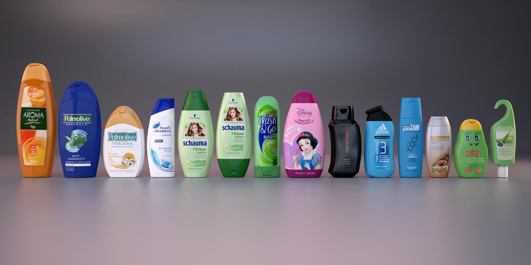 14 shampoo bottles - set 1 by hglr123 | 3DOcean