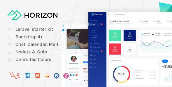 Horizon – Laravel + Bootstrap 4 Admin Dashboard Template