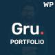 Gru - Personal Portfolio WordPress Theme - ThemeForest Item for Sale