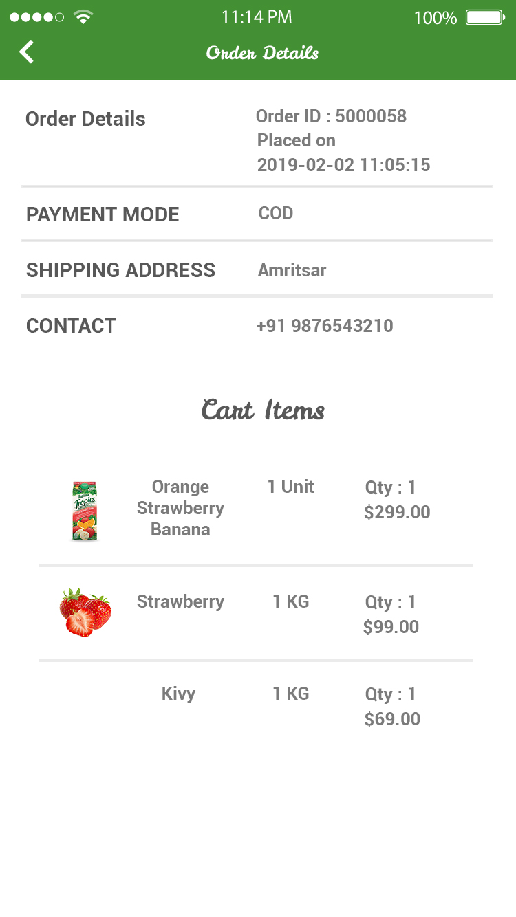 Online Grocey Store App   Grocery Android & iOS App with Php CMS Backend +  Restful API  