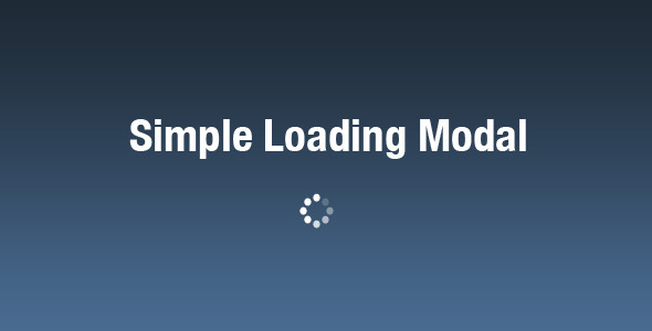 Simple Loading Modal - Elegant Loader for jQuery - CodeCanyon Item for Sale