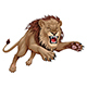 Angry Lion Jumping - GraphicRiver Item for Sale