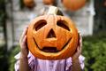 Young playful girl enjoying Halloween - PhotoDune Item for Sale