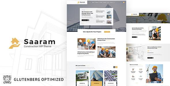 Saaram - Building Construction WP Theme