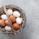 Hen eggs in basket - PhotoDune Item for Sale