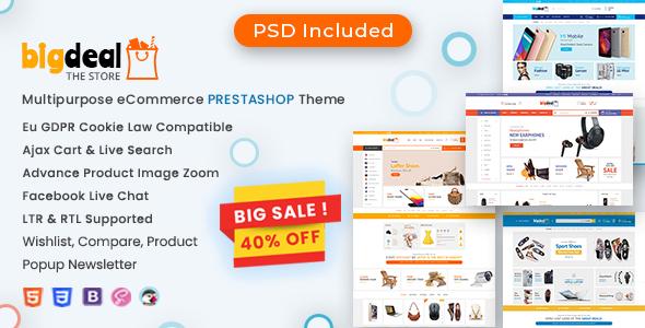 Bigdeal - Multipurpose Mega Store Prestashop Theme