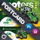 Vehichle Mower Postcard Templates - GraphicRiver Item for Sale
