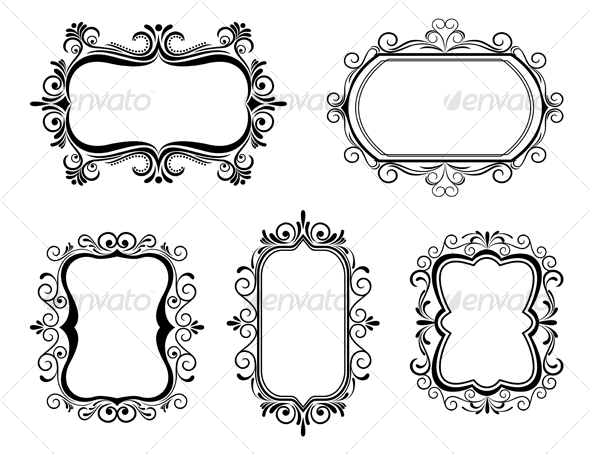 Antique vintage frames - Decorative Vectors