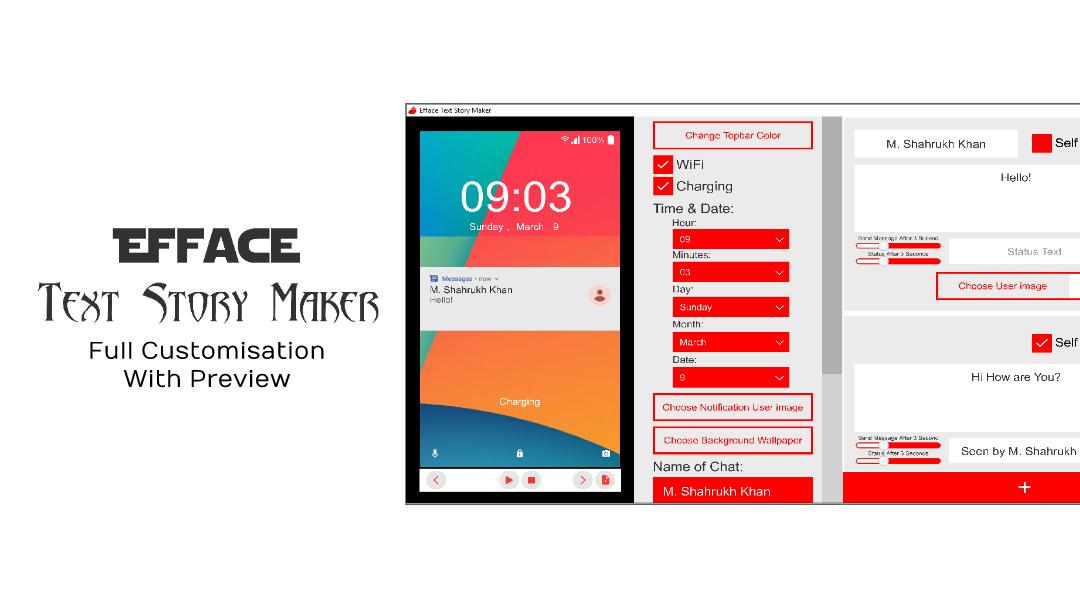 Efface Text Story Maker