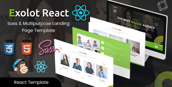 Exolot - React Multipurpose Landing Page Template by EnvyTheme