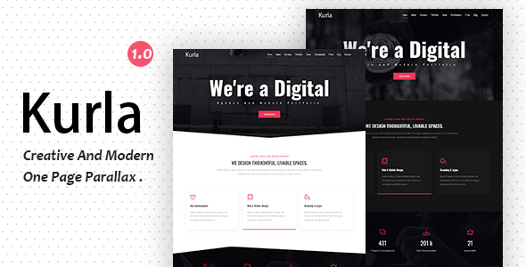 Kurla - Creative One Page Parallax