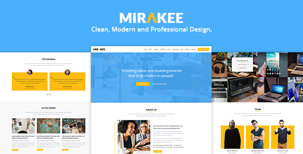 Mirakee – A Multipurpose Single Page PSD Template