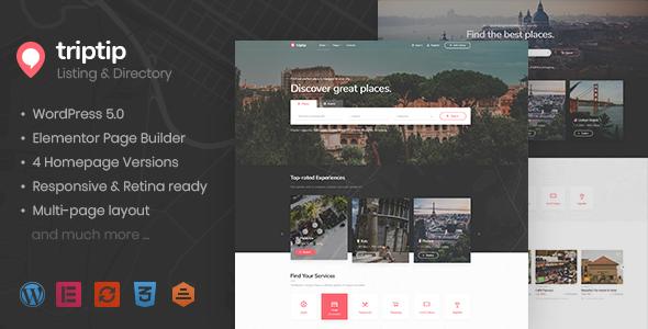 TripTip – Directory & Listing WordPress Theme Free Download