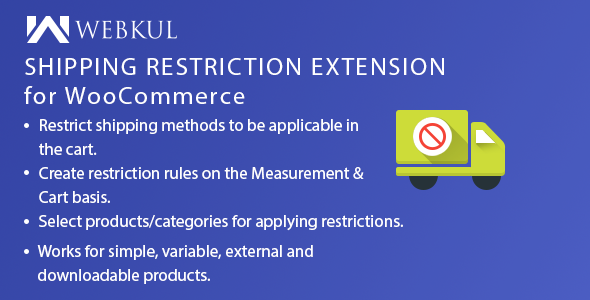v1 0] Shipping Restriction Plugin for WooCommerce Nulled