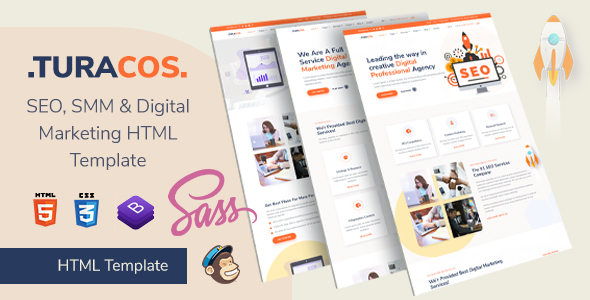 Turacos - Digital Agency/SEO Agency HTML Template