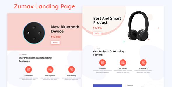 Zumax - Product Landing Page