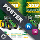 Vehichle Mower  Poster Templates - GraphicRiver Item for Sale