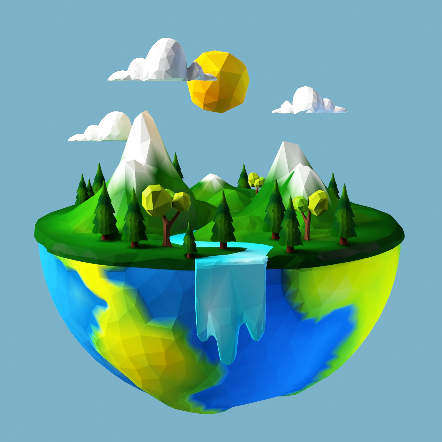 Mother Earth Day Low Poly By Dreamexpander 3docean
