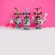 Three funny handyman robots ready for maintenace and repair. Robotic characters with pliers hand - PhotoDune Item for Sale