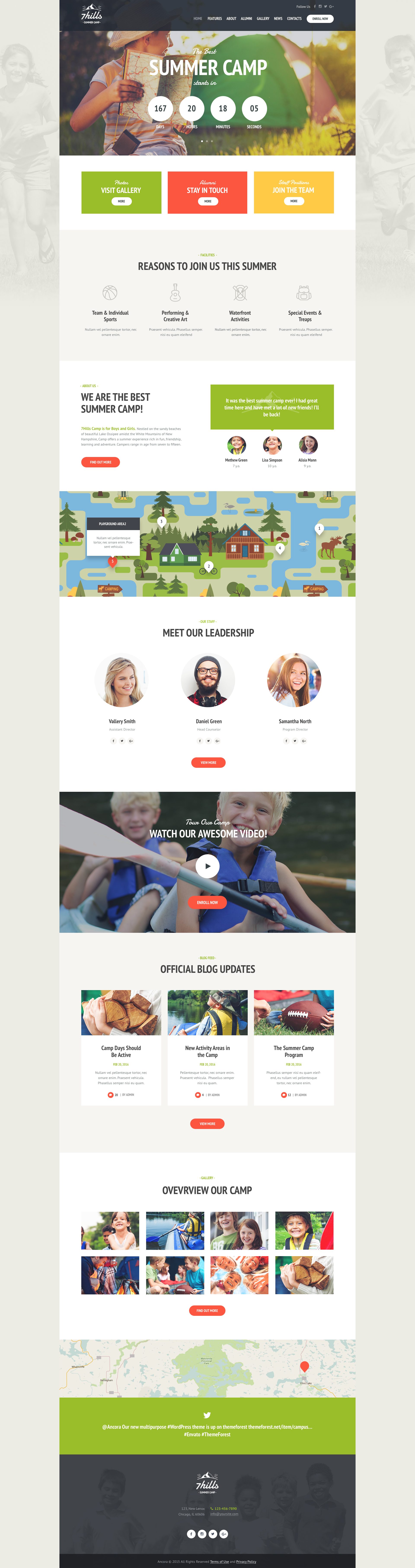 SevenHills - Summer Camp WordPress Theme