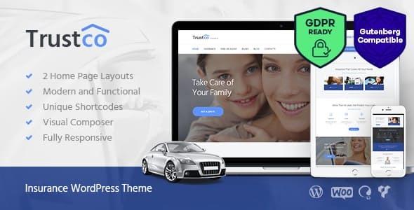 Insurance Agency, Finance & Business WordPress Theme