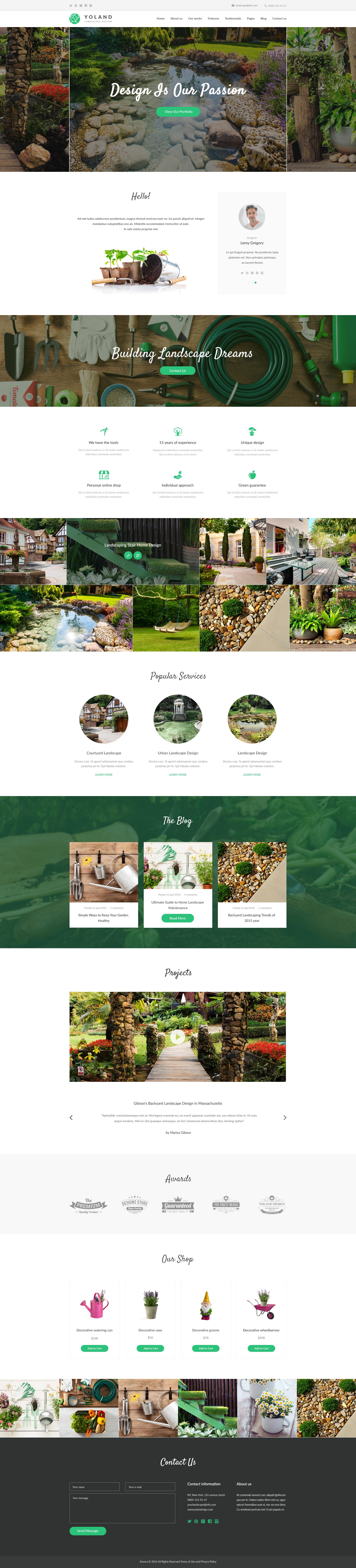 Yoland Landscape Design Garden Accesories Store Wordpress