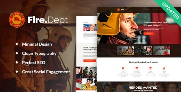 Fire Department, Fire Station and Security WordPress Theme Free Download