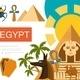 Flat Egypt Symbols Composition - GraphicRiver Item for Sale
