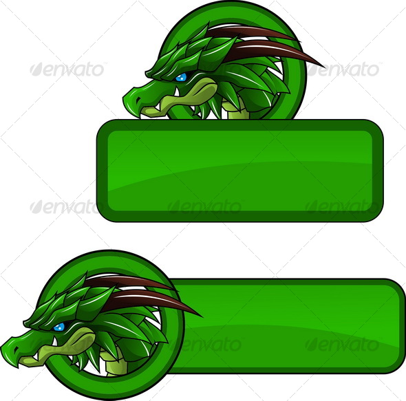Dragon Banner 2 - Decorative Vectors