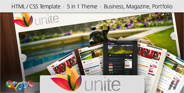 Unite – HTML Business, Magazine, Community Site