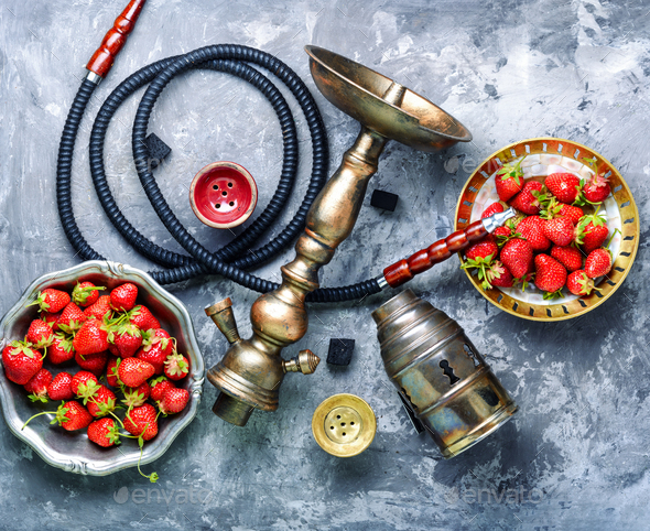 Fruit with hookah - Stock Photo - Images