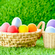 Easter eggs in the basket on green grass-8 - PhotoDune Item for Sale