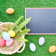 Close up Easter eggs on grass and blackboard mockup-2 - PhotoDune Item for Sale