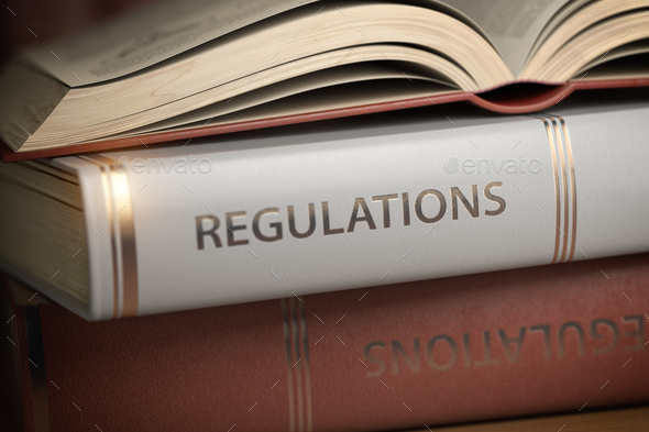 Regulations book. Law, rules and regulations concept. - Stock Photo - Images