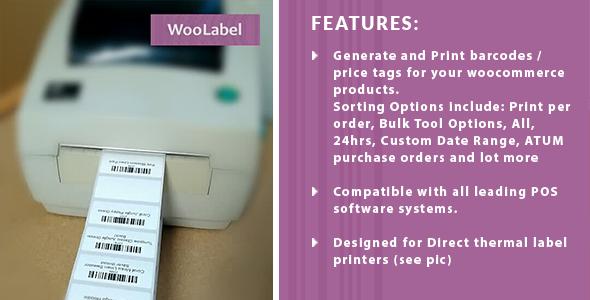 WooCommerce Product Barcode Label Printing Premium
