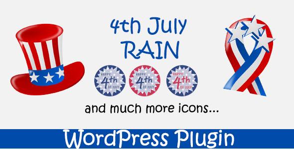 4th July Rain - WordPress Plugin