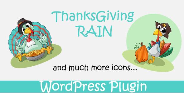 ThanksGiving Rain - WordPress Plugin