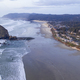 Aerial View Over Cannon Beach Pacific Ocean Coast Oregon - PhotoDune Item for Sale