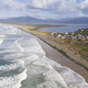 Aerial Perspective over Pacific Coast Beach Bayocean Peninsula  - PhotoDune Item for Sale