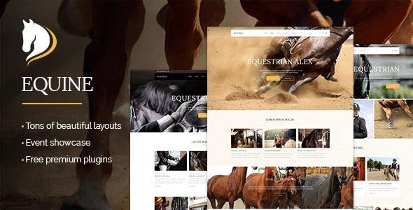 Equine - An Equestrian and Horse Riding Club Theme