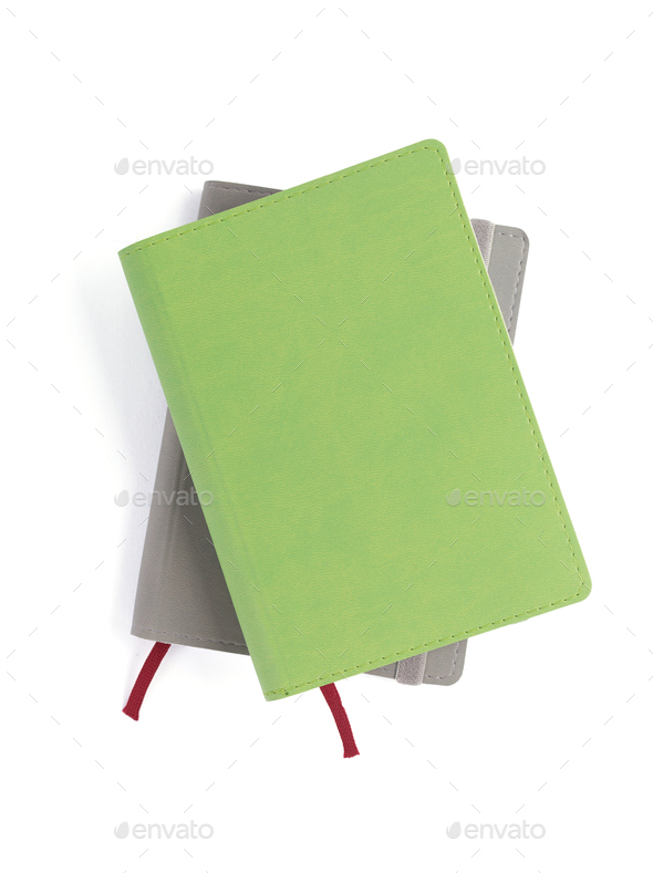 paper notebook at white background - Stock Photo - Images