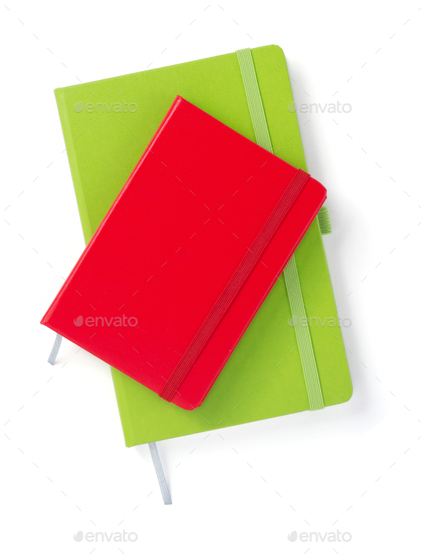 notebook at white background - Stock Photo - Images